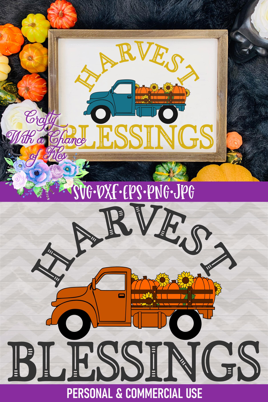 Harvest Blessings SVG | Pumpkin Truck SVG | Farm Truck SVG example image 4