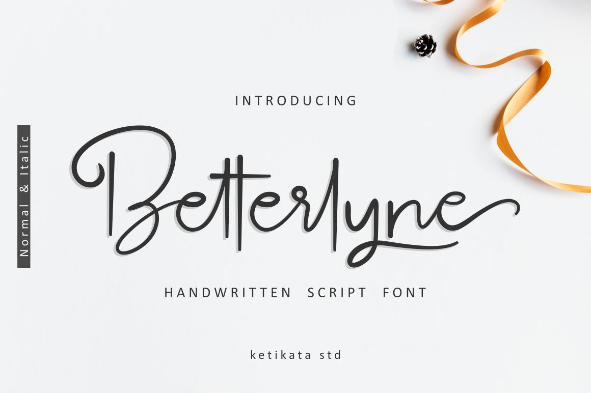 Betterlyne Handwritten Script example image 1