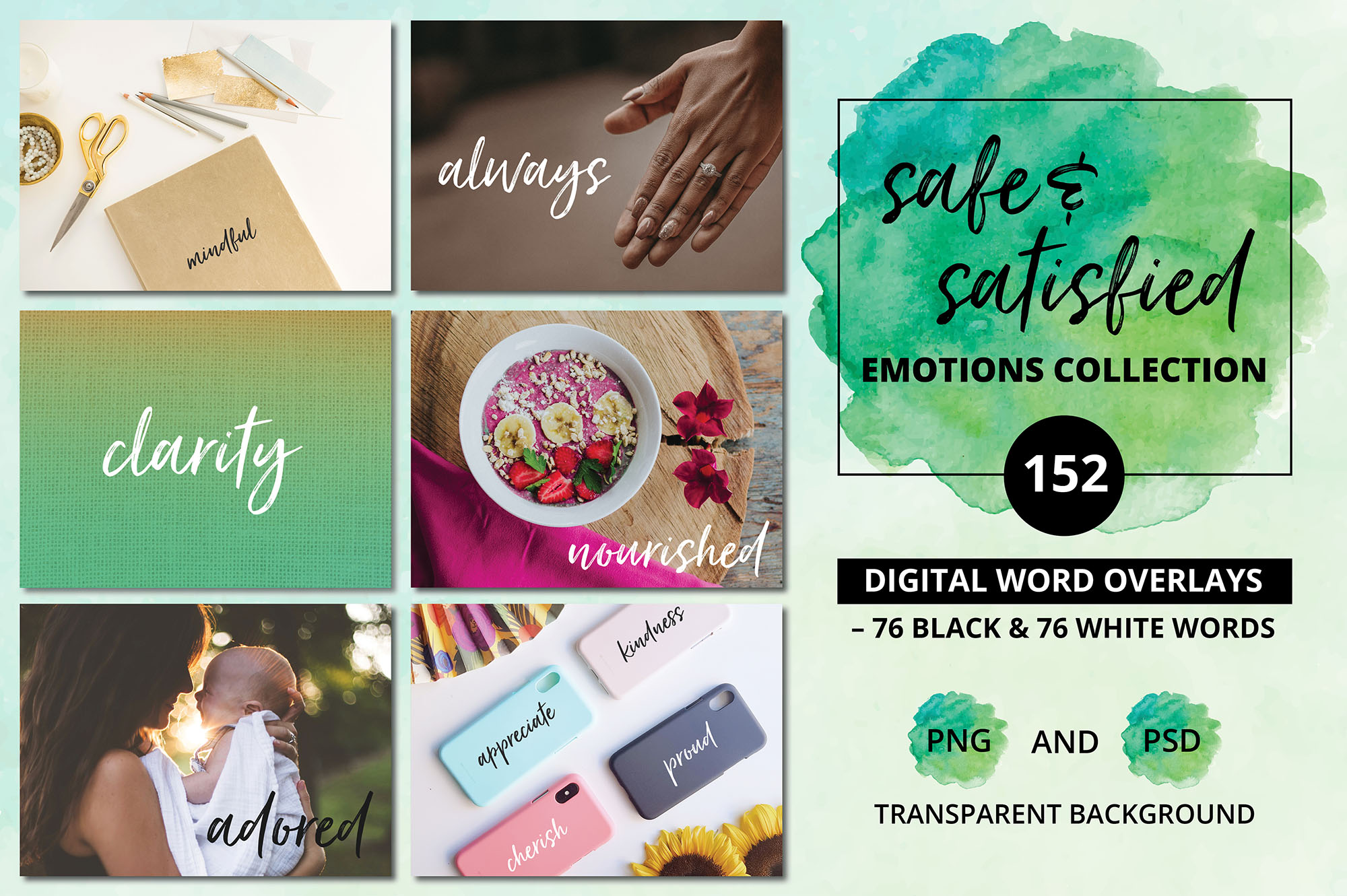 Social Media Overlays Bundle - 712 Black and White Words example image 17