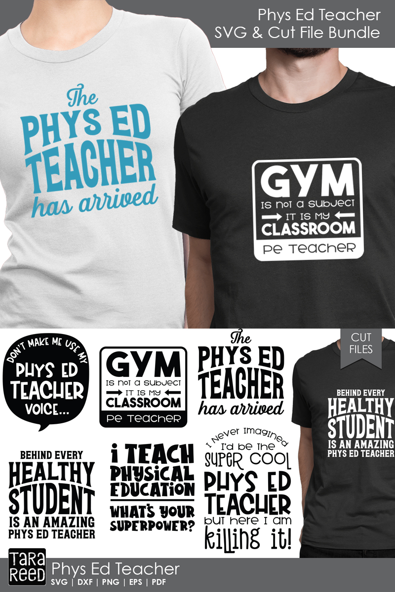 Phys Ed Teacher - School SVG and Cut Files for Crafters example image 2