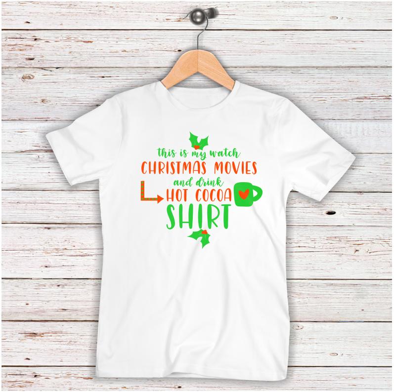 Christmas SVG Watch Christmas Movies Shirt SVG example image 2