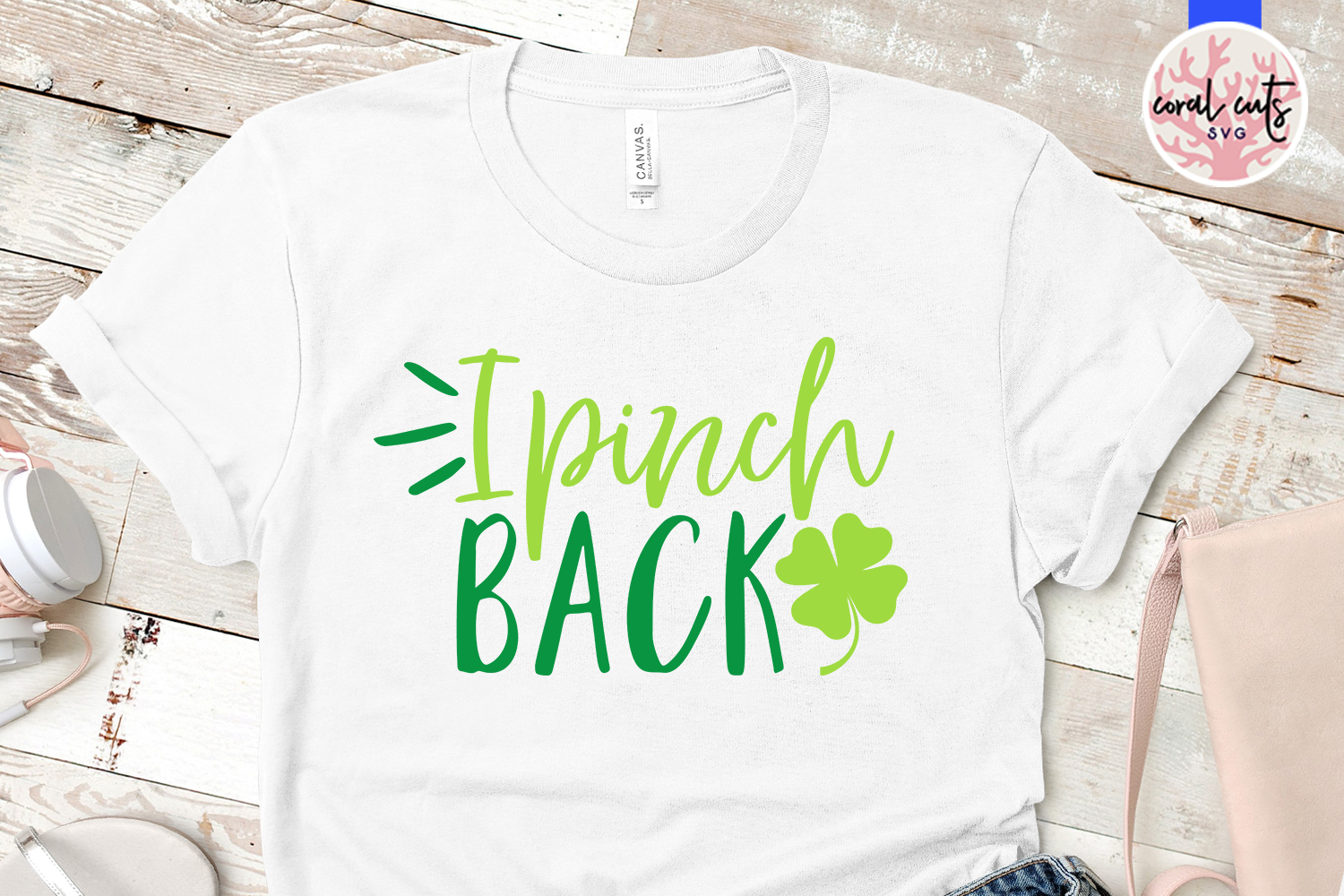 I pinch back - St. Patrick's Day SVG EPS DXF PNG example image 2