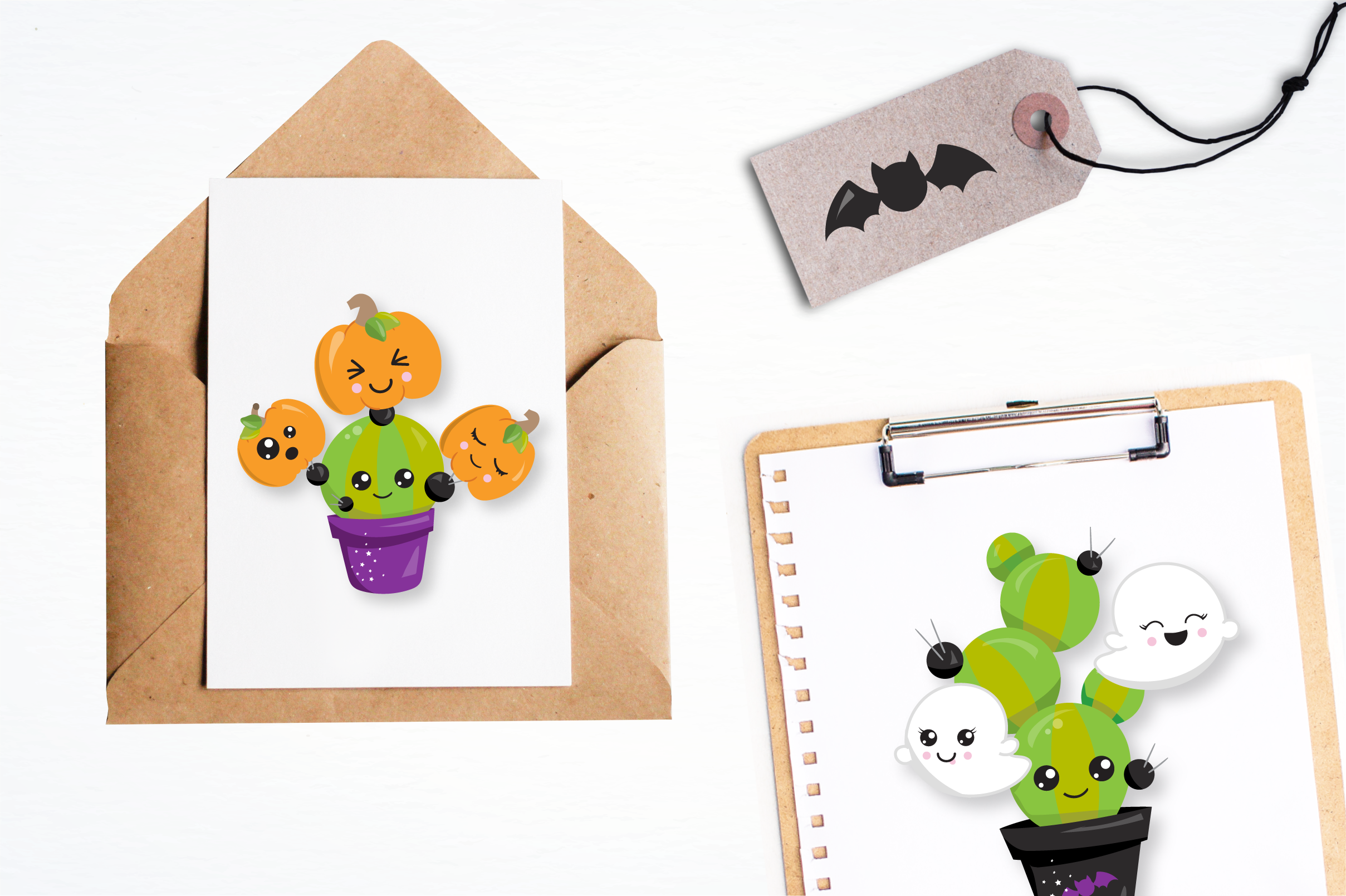Halloween cactus graphics and illustrations example image 4