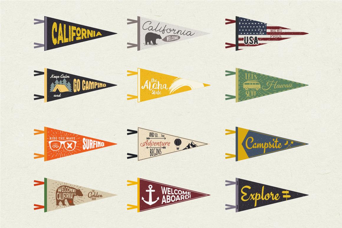 Adventure Pennants & Vintage Flags example image 3