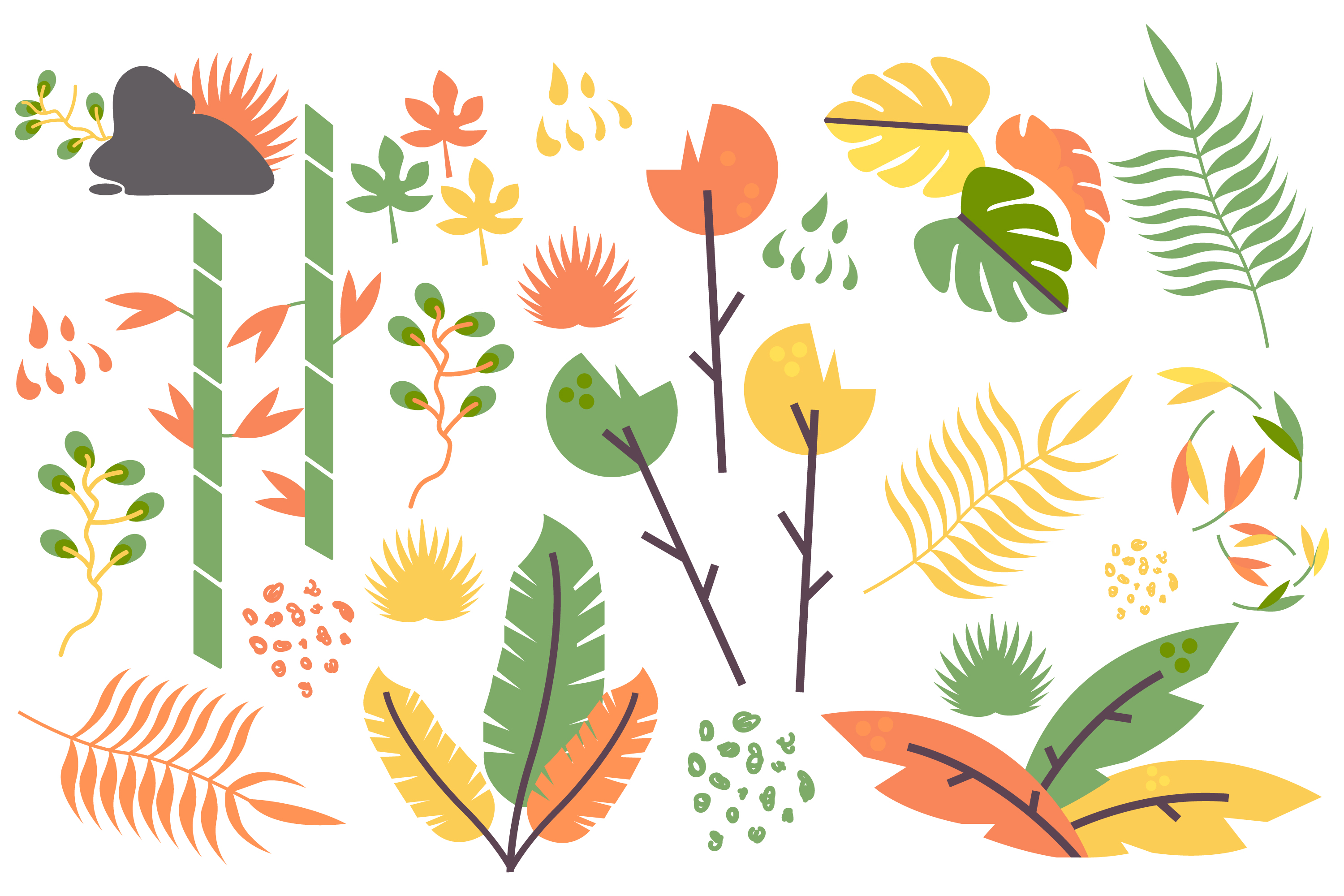 Autumn Leaves Vector Set example image 1