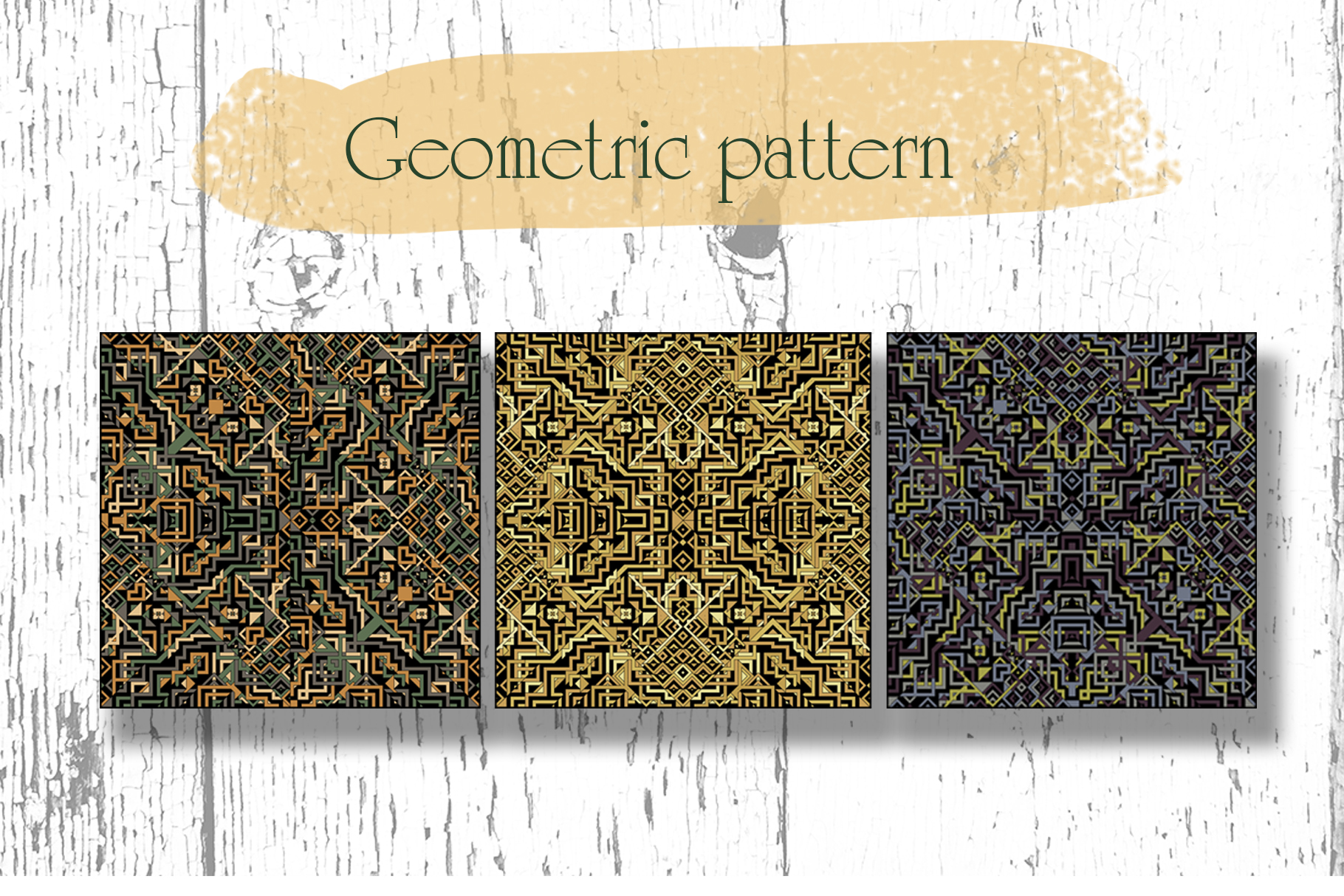 Geometric illustration pattern set example image 2