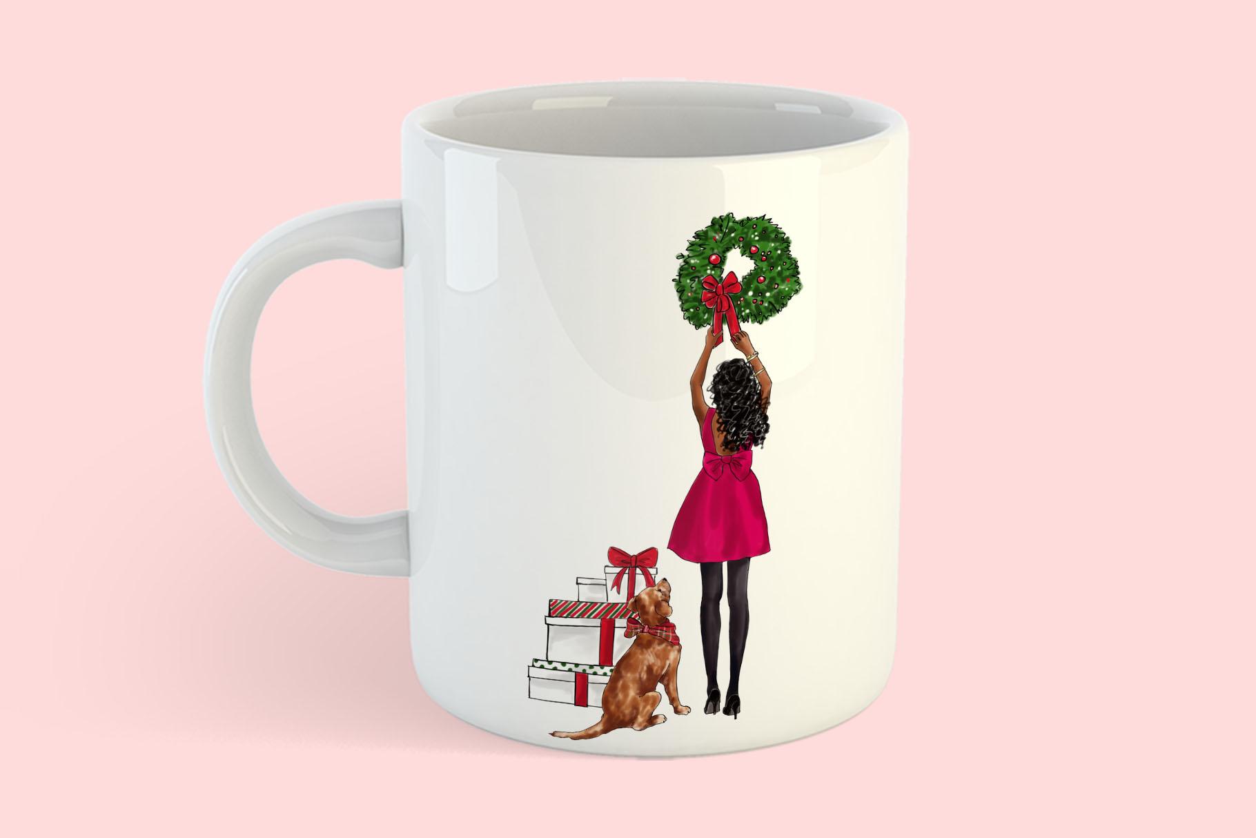 Fashion illustration - Christmas Girl 7 - Dark Skin example image 8