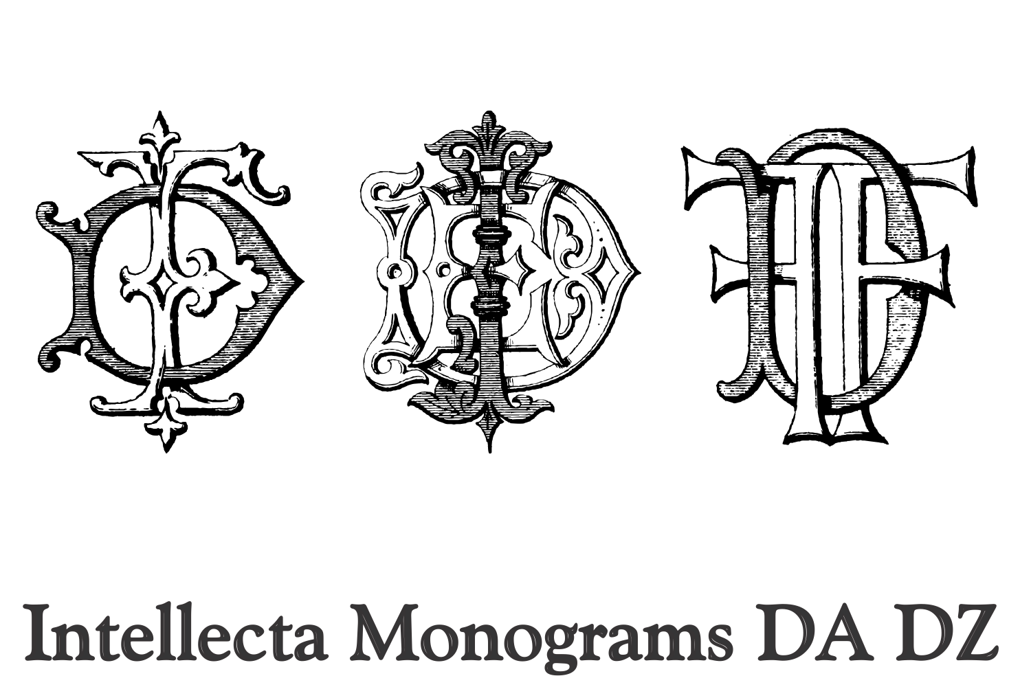 Intellecta Monograms DA DZ example image 6