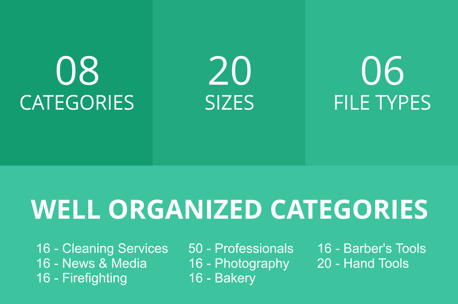 166 Professionals & their tools Flat Icons example image 3
