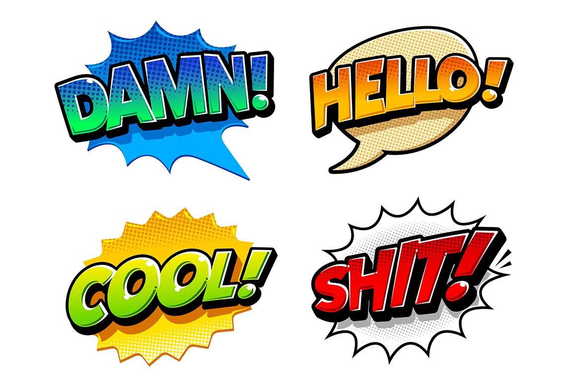 Comic Speech Bubbles example image 4