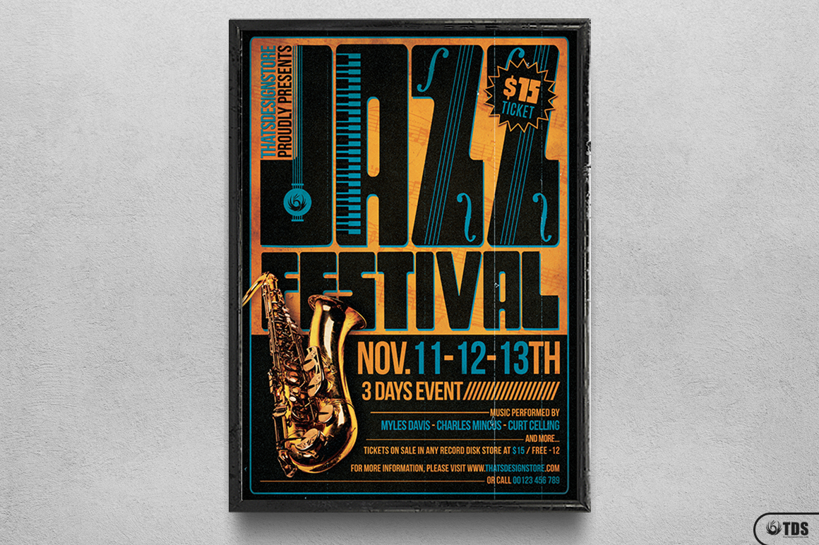 Jazz Festival Flyer Template V2 example image 6