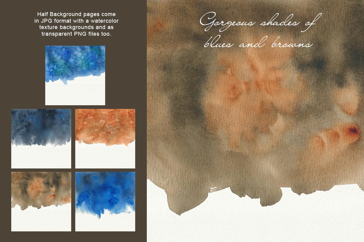 Dark Watercolor Backgrounds & Headers example image 6