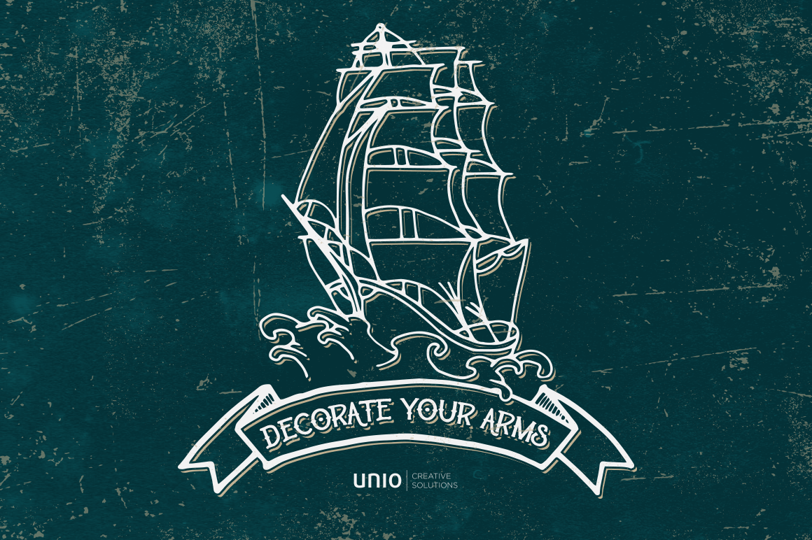 Sailor's Grave - Retro Tattoo Kit example image 4