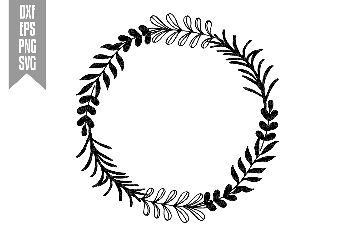 Wreath Svg Bundle - 6 designs included - Svg Cut Files example image 5