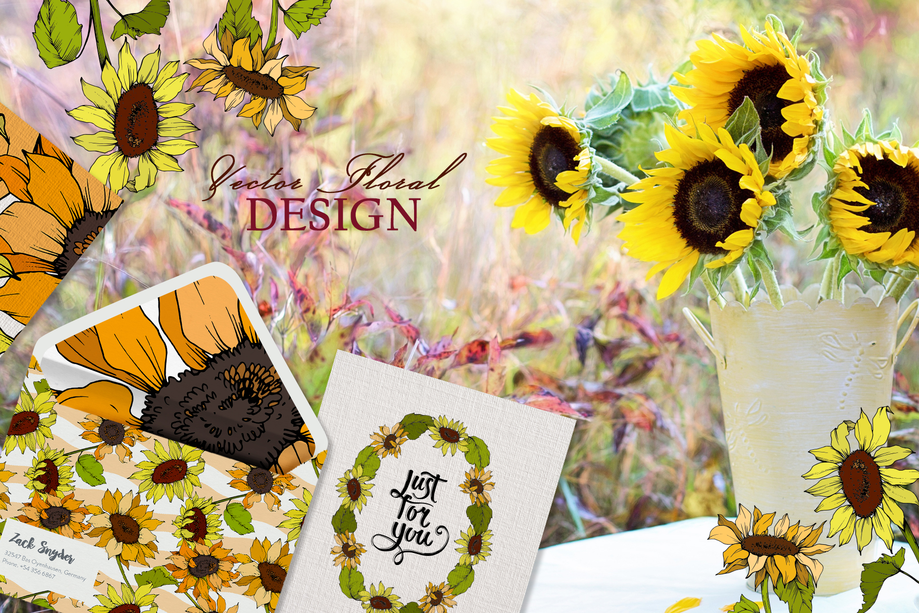 Sunflower Vector Collection example image 7