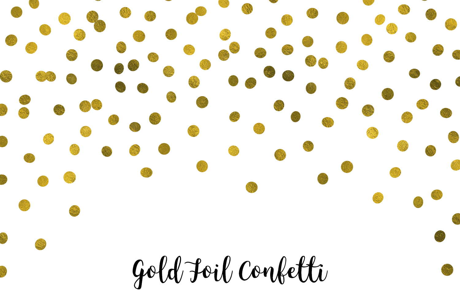Gold Foil Confetti, Transparent PNG example image 2