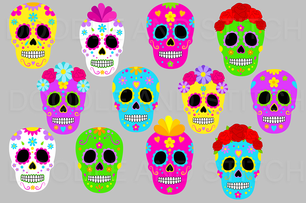 Day of the Dead Clipart Illustrations example image 2