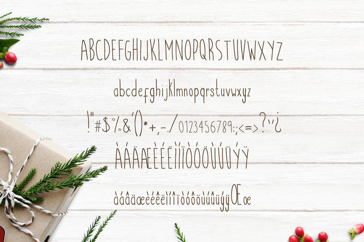 Candlestik Christmas Font & Extras example image 2