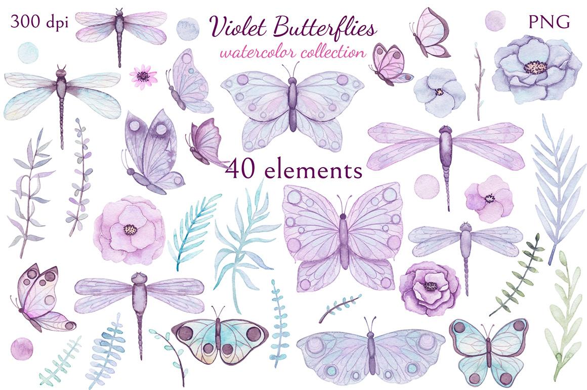 Violet Butterflies example image 2