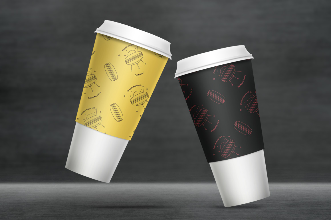 Coffe cup mockup. Package mockup. example image 2