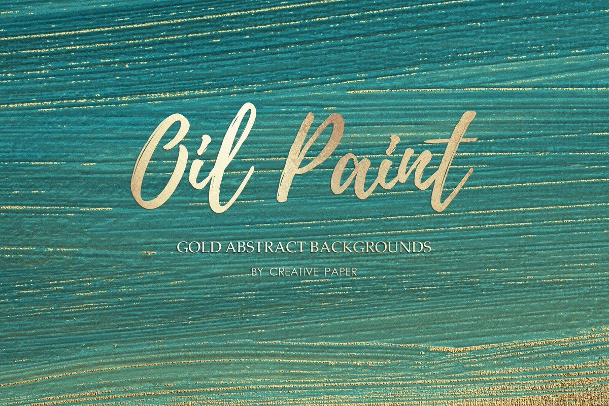 Gold Oil Paint Backgrounds example image 2