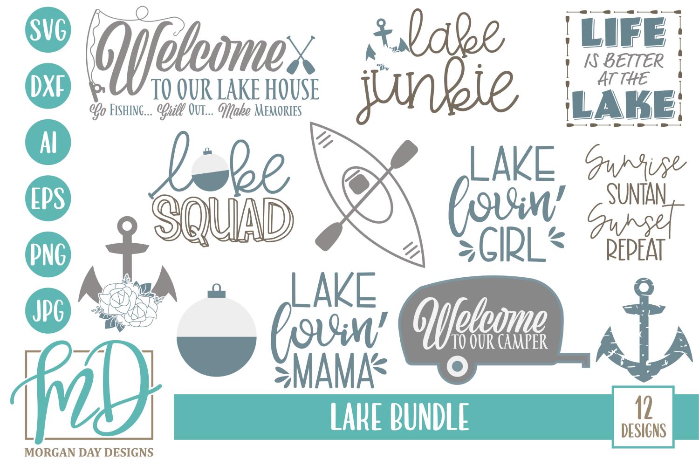 Vacation - Camping - Summer - Lake Bundle SVG example image 1