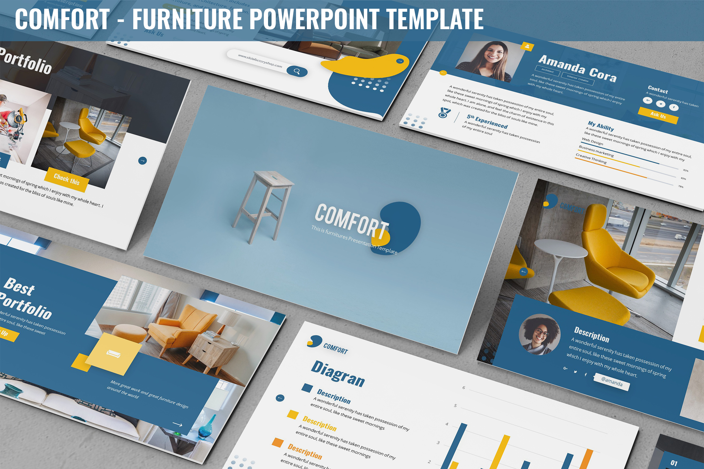 Comfort - Furniture Powerpoint Template example image 1