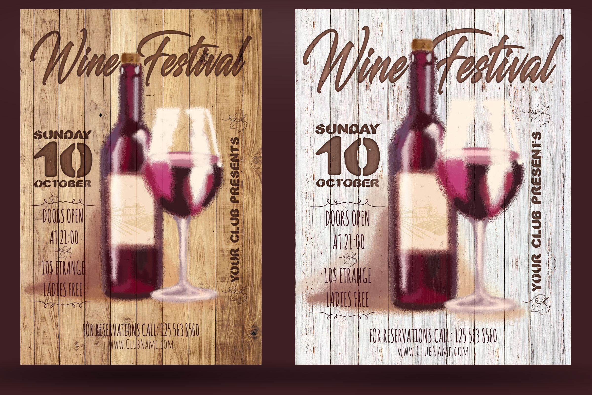 Wine Festival Flyer example image 2