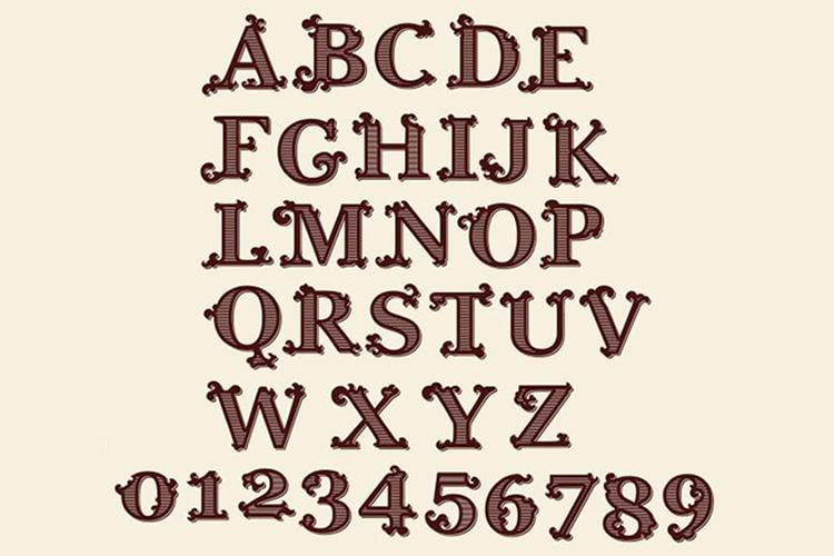 Tatianna   Vintage Font Family example image 9