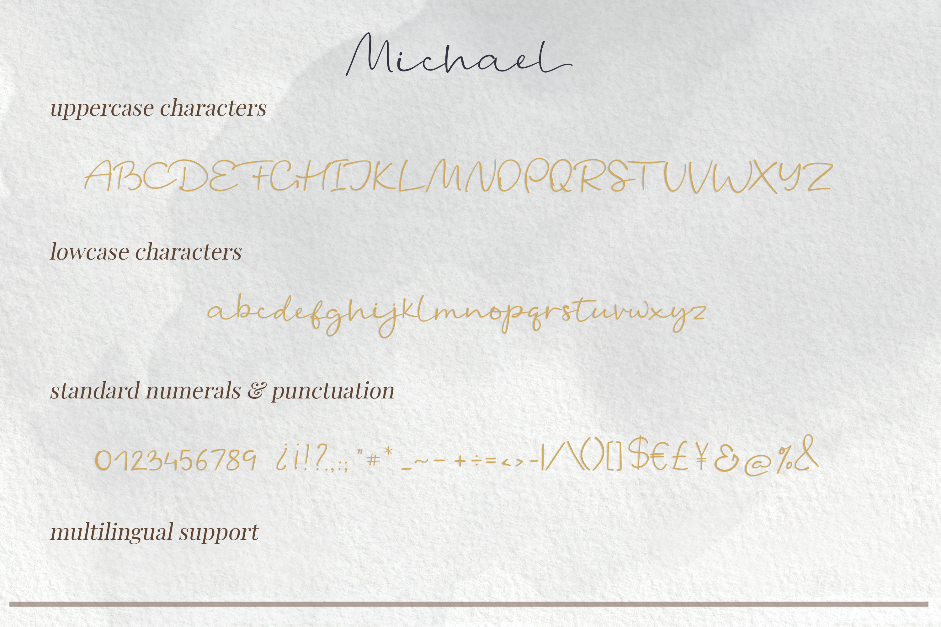 Michael - a casual handwritten script example image 13