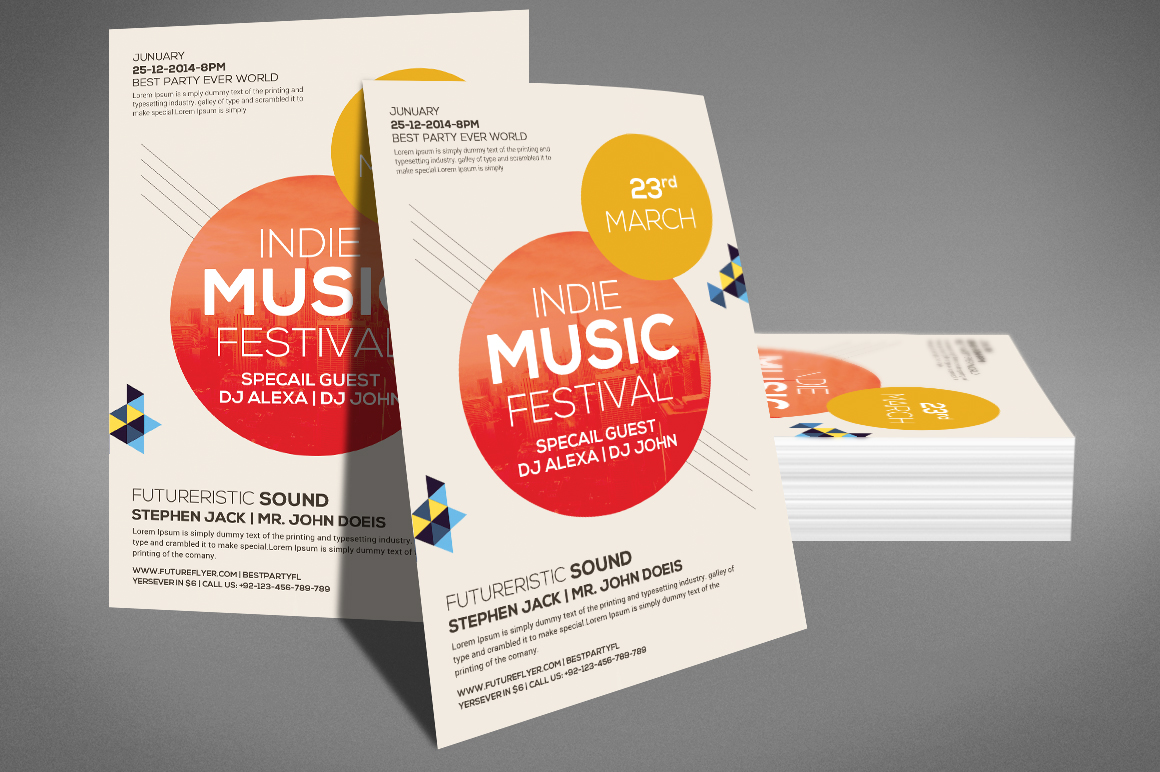 Modern Beats Flyer Template example image 3
