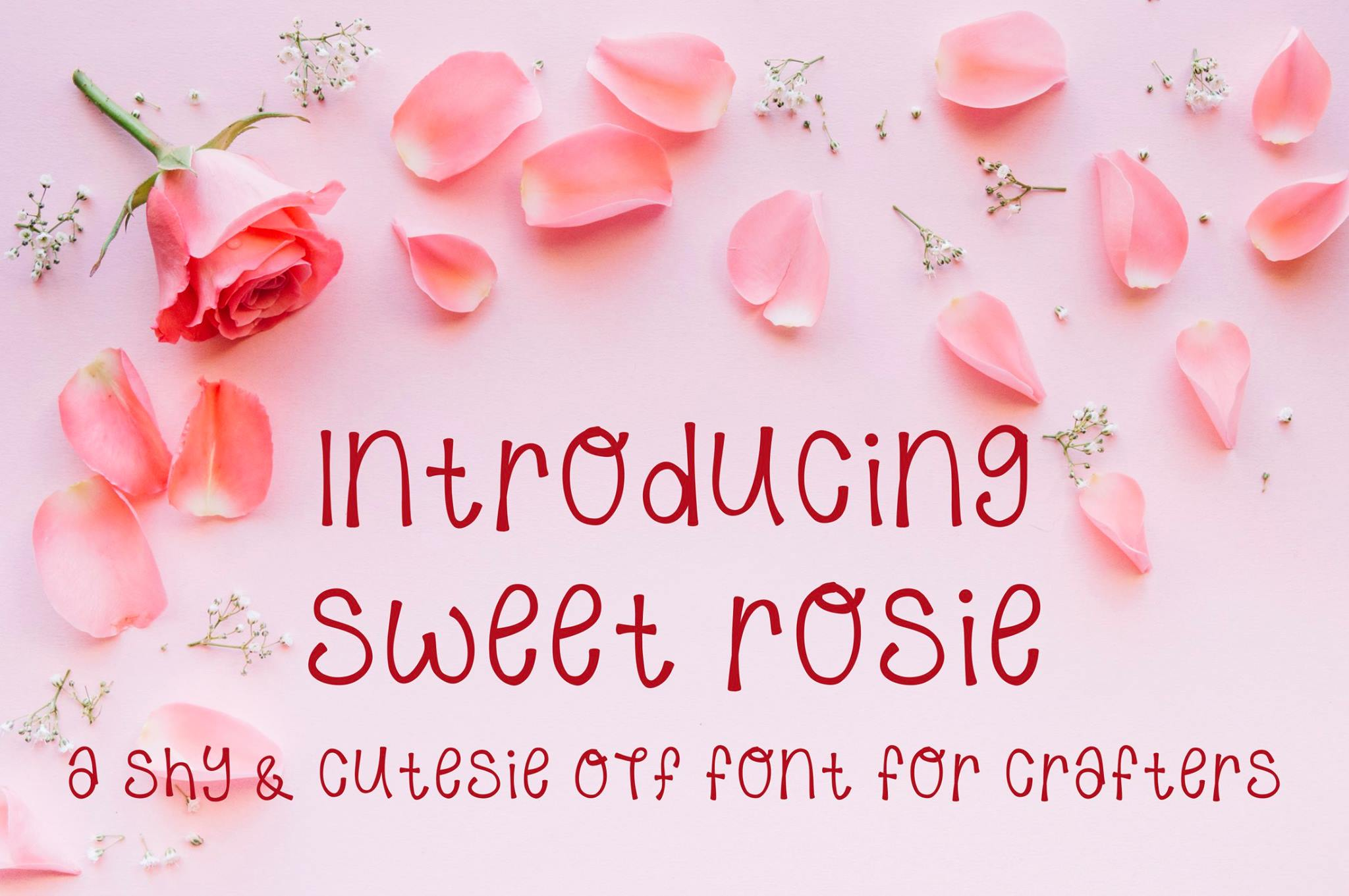 Sweet Rosie - A Hand Written OTF font example image 1
