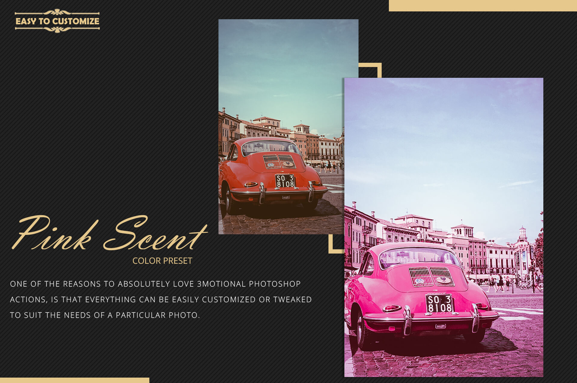 Neo Pink Scent Color Grading photoshop actions example image 10