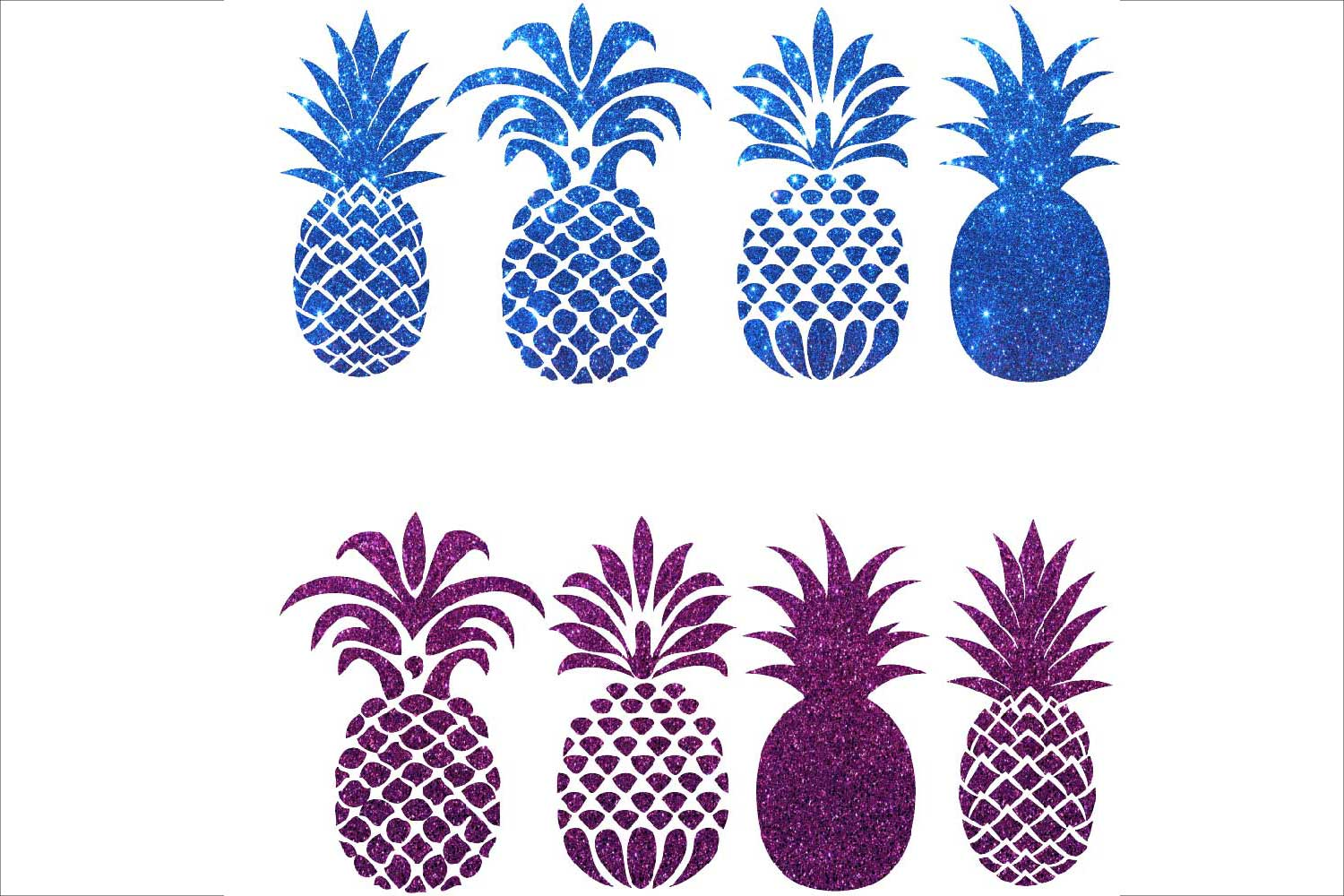 Pineapple Silhouettes Clipart example image 3