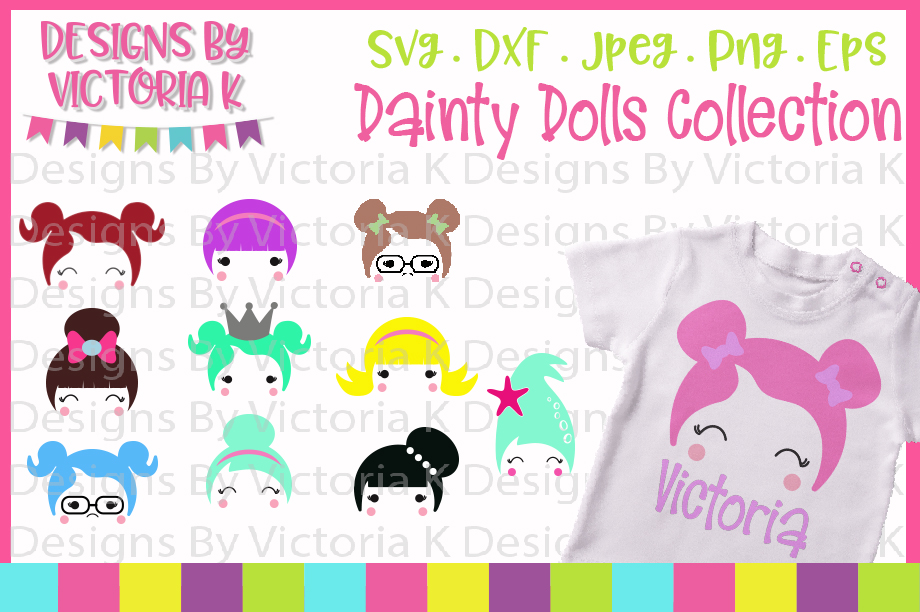 Doll svg, Dainty Dolls Collection, SVG, DXF, EPS, PNG example image 1