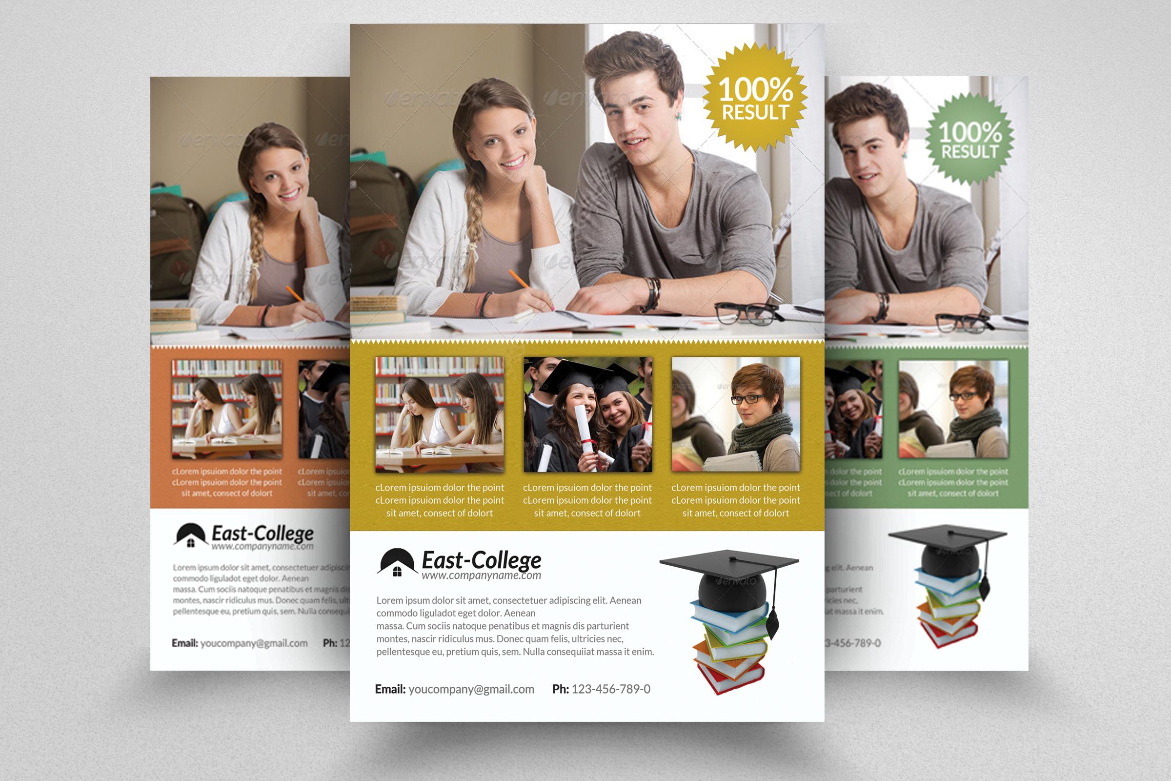 6 School Education Flyers Bundle example image 2