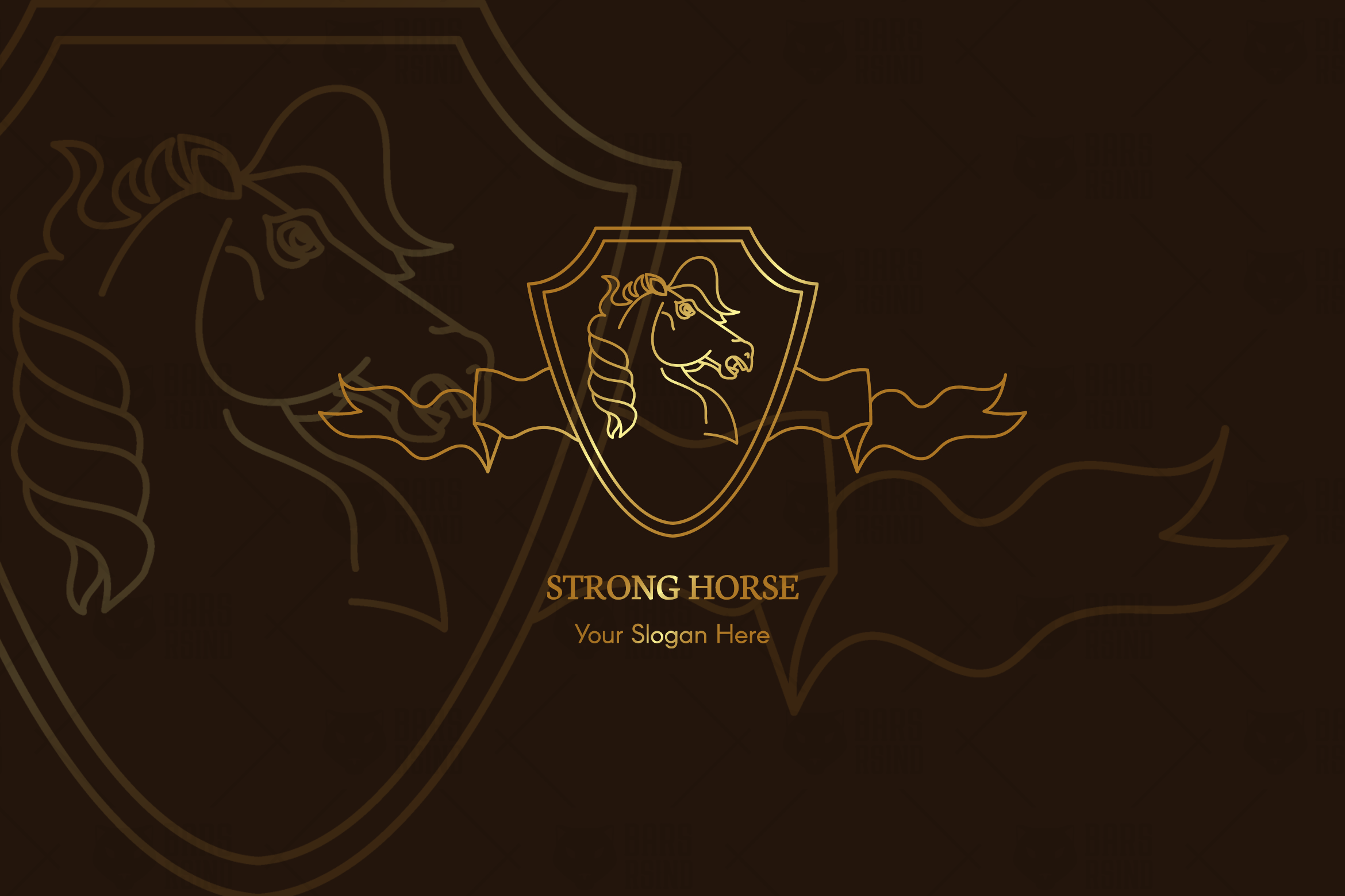 Strong Horse Logo Template example image 1