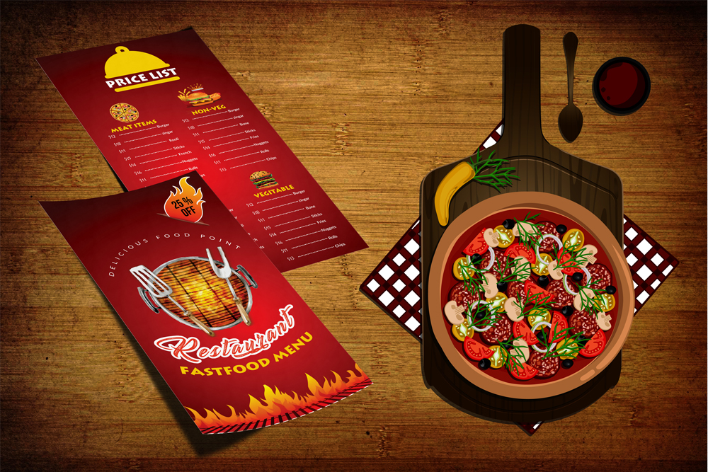 Restaurant Food Menu Template example image 1