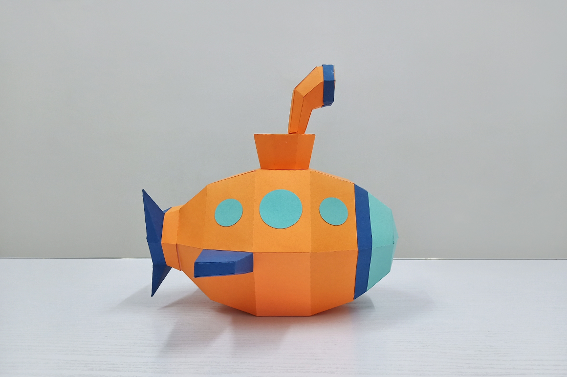 DIY Submarine papercraft ,Nursery decor,Babyshower decor example image 2