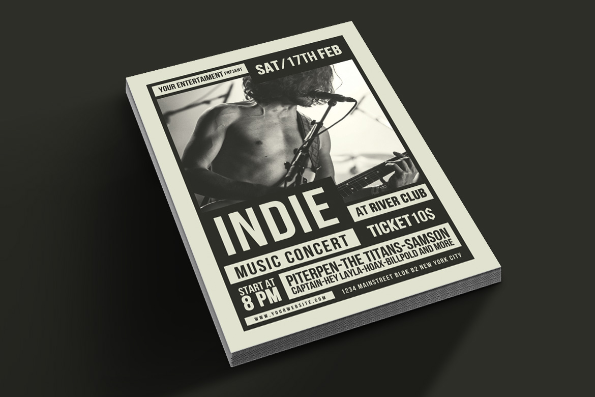 Indie Music Flyer example image 2