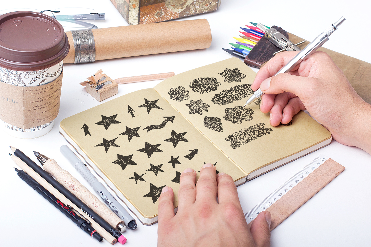 Handsketched Vector elements/arrows/stars example image 2