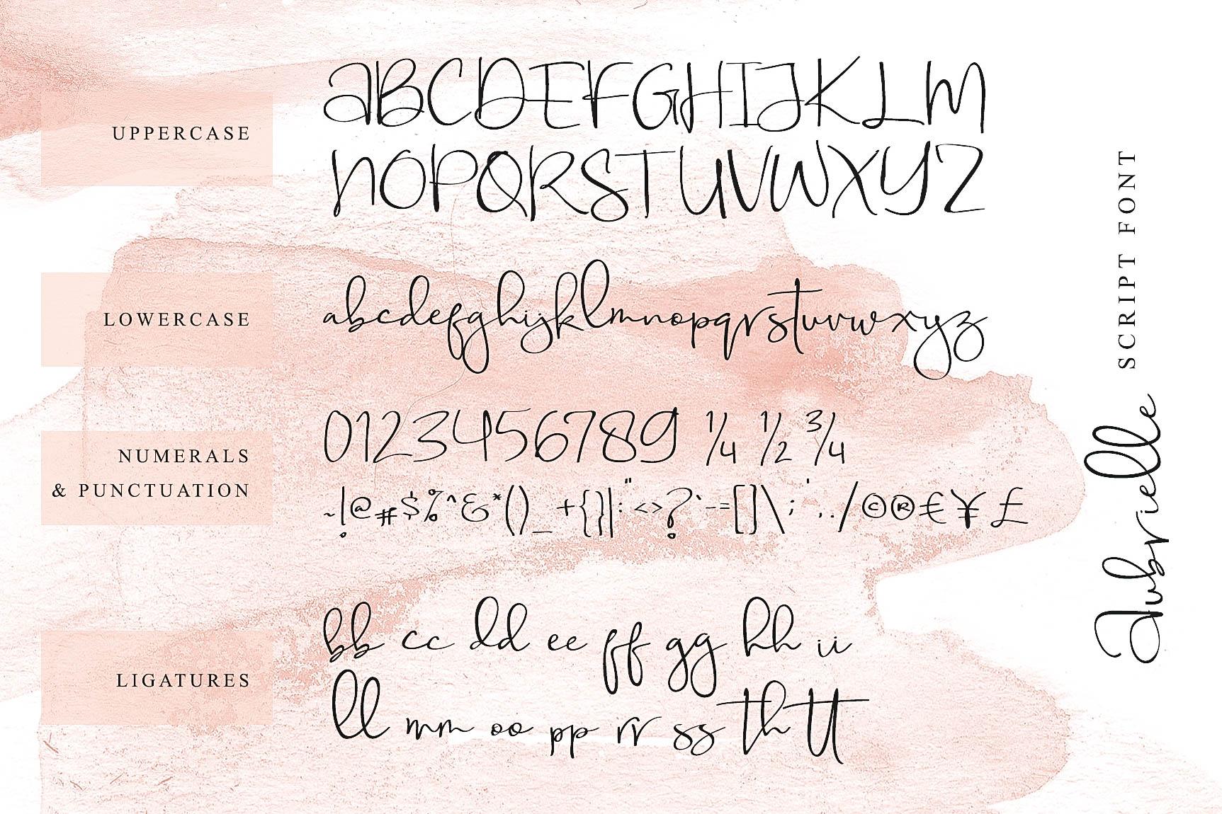 Aubrielle Script Font example image 4