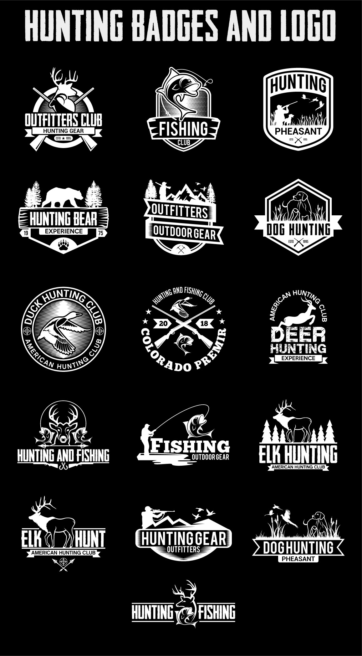 Hunting Vintage Badges and Logos example image 7