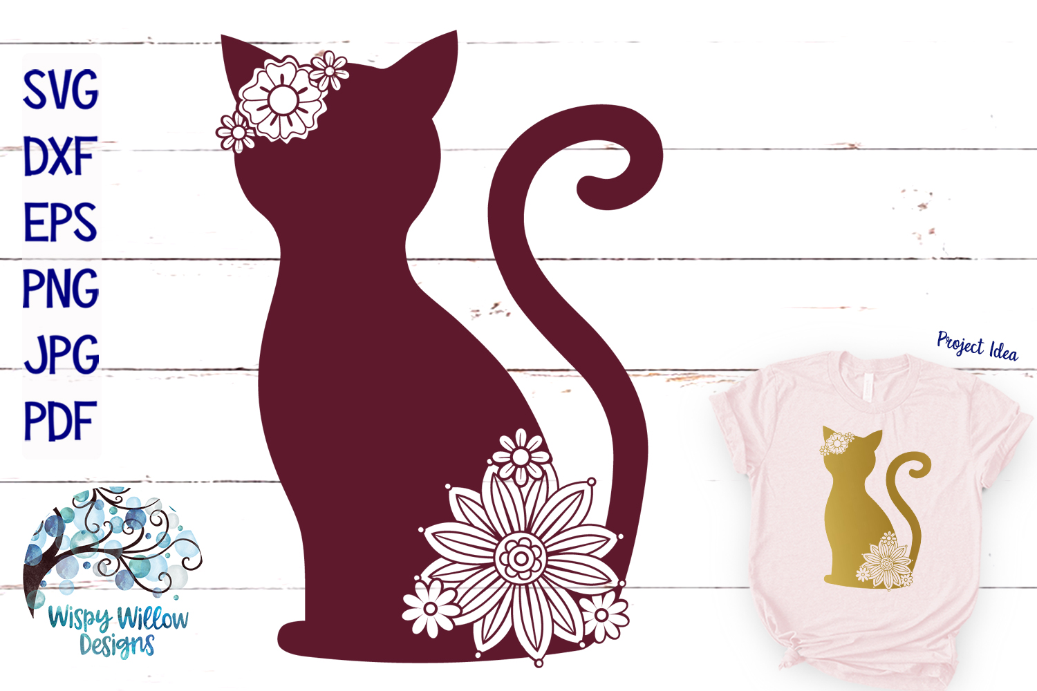 Floral Animal Bundle | Floral Animal SVG Cut Files example image 5