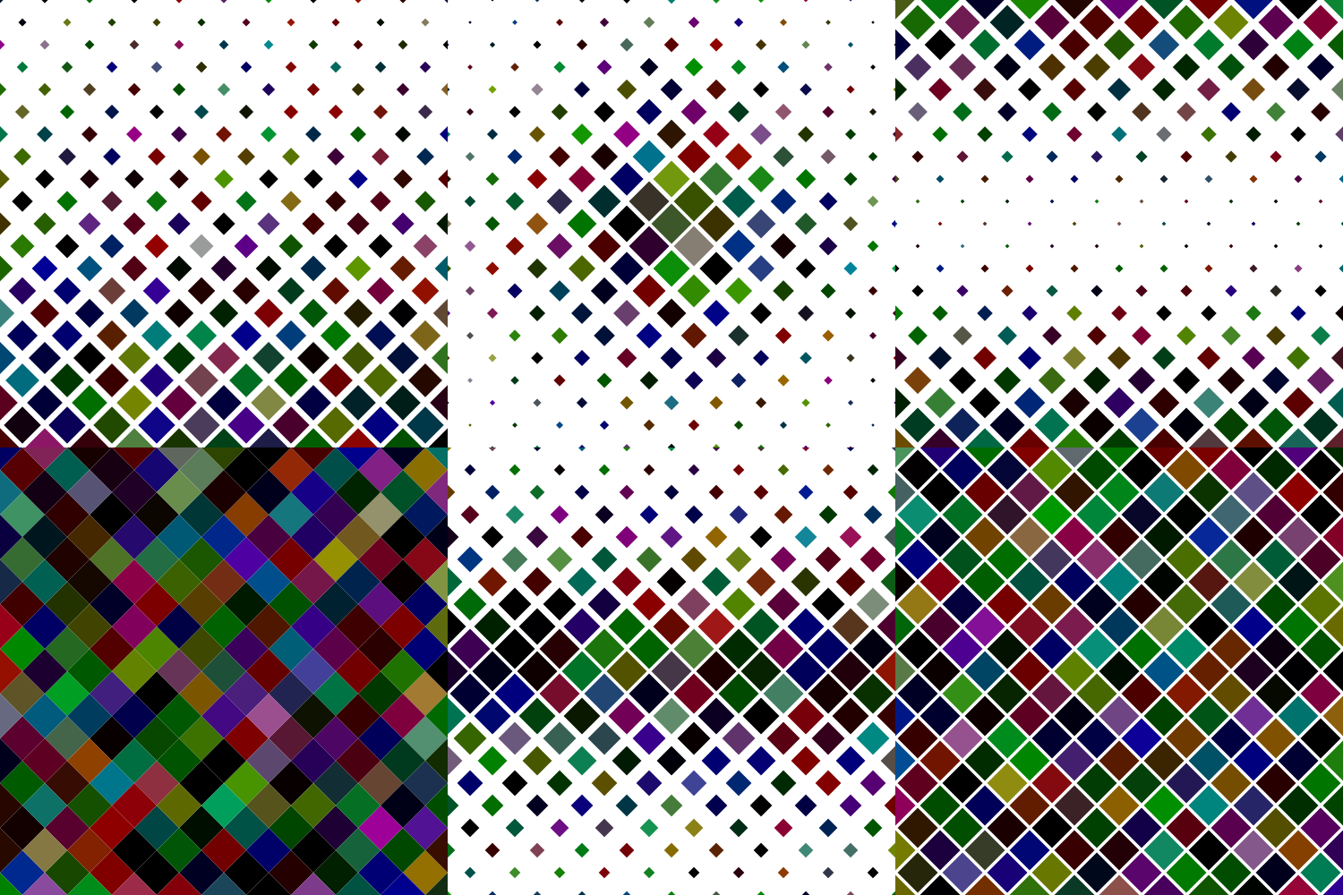 24 Multicolored Square Patterns (AI, EPS, JPG 5000x5000) example image 5