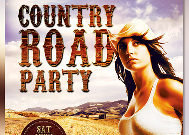 Country Road Party Flyer Template example image 2