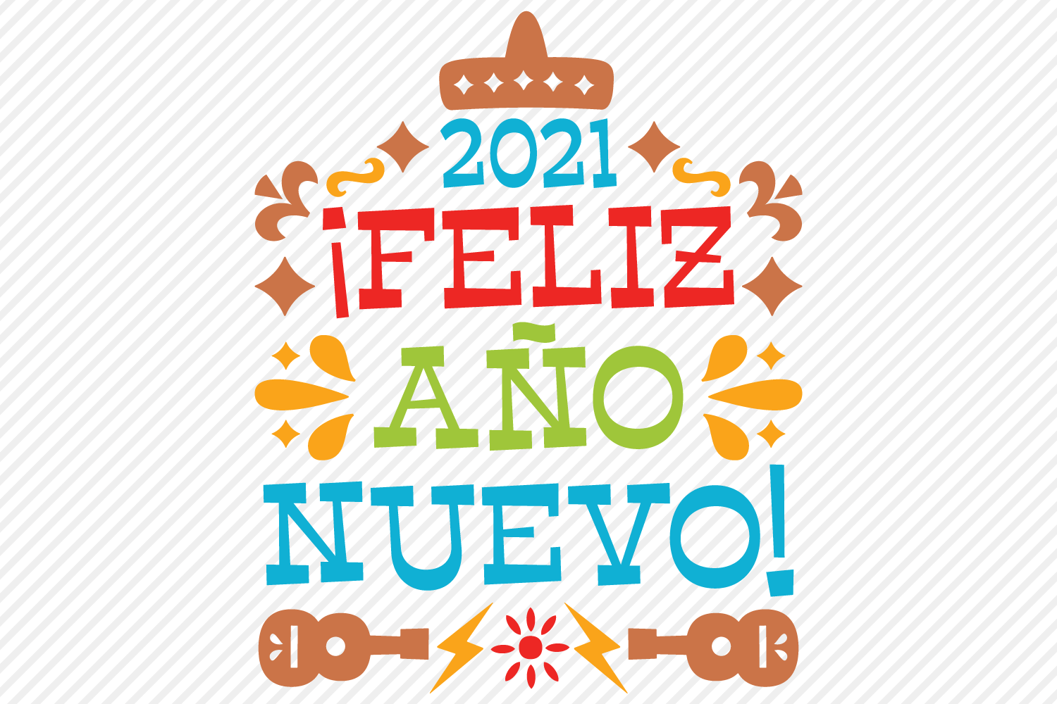 2021 Feliz Ano Nuevo SVG, Cut File, Happy New Year Design example image 2