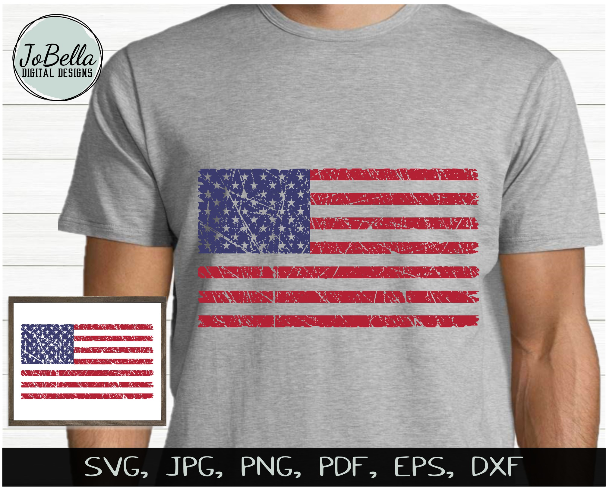 Patriotic SVG Bundle- July 4th Sublimation PNGs & Printables example image 4