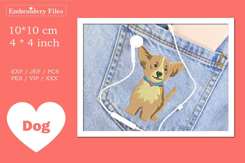 Cute little Corgi Dog - Embroidery File example image 2