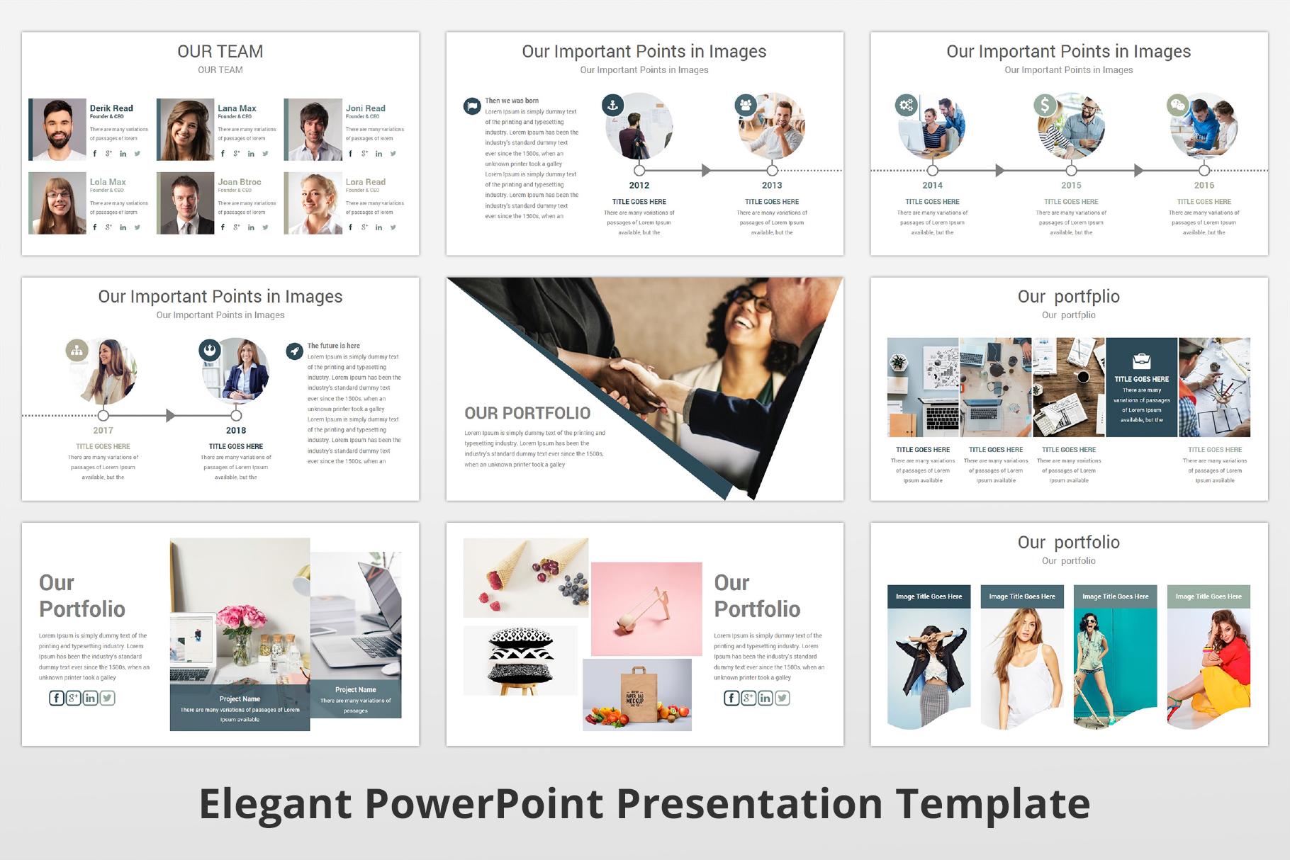 Elegant multipurpose PowerPoint Presentation Template example image 8